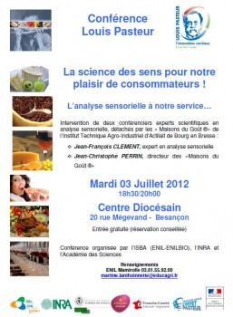 Conférence Pasteur sur l'analyse sensorielle