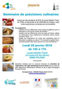 seminaire culinaire
