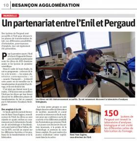 Partenariat entre l'enil et le lycée lycee Pergaud de Besancon